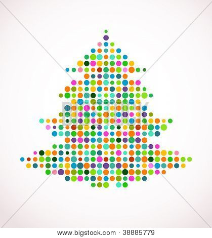 abstract vector Christmas tree