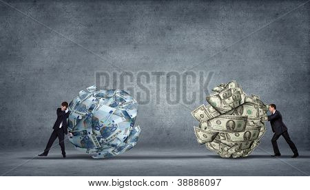 computer generated image - corporate income and financila issues