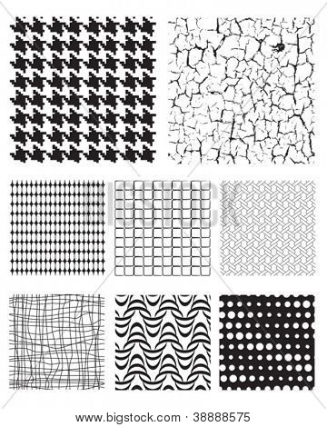 Seamless Repeat Pattern Textures and fills.  Use to add texture to photographs and vectors.