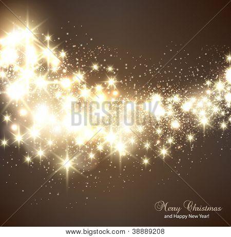 Elegante Weihnachten Hintergrund mit Schneeflocken und Platz für Text. Vektor-Illustration.