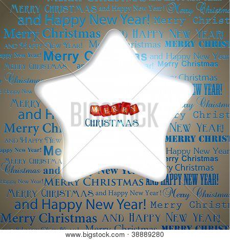 Winter Hintergrund mit Weihnachten Sterne Loch im Papier und Kopie Raum. Vektor-Illustration mit Platz f