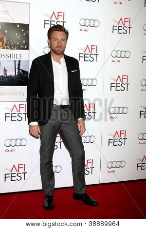 "LOS ANGELES - NOV 4:  Ewan McGregor arrives at the AFI Film Festival 2012  ""The Impossible"" Screening at Los Angeles on November 4, 2012 in Graumans Chinese Theater, CA"