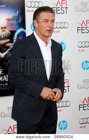 LOS ANGELES - NOV 4:  Alec Baldwin arrives at the AFI Film Festival 2012