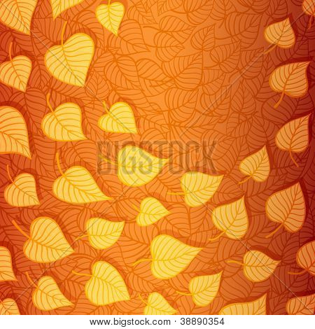 Autumn leaves banner made of fancy paper, vector eps8 illustration