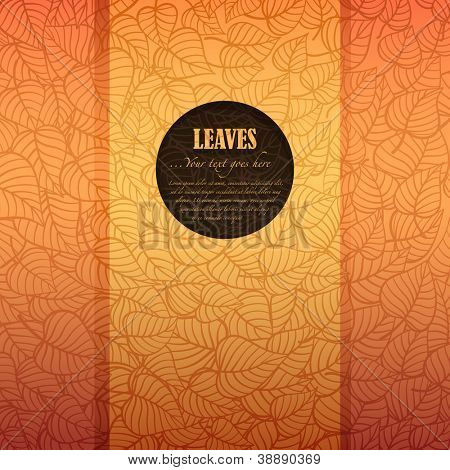 Autumn leaves banner made of fancy paper with space for Your text, vector eps8 illustration