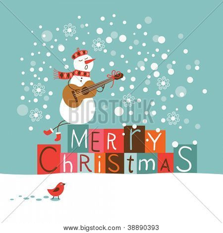 Tarjeta de Navidad de felicitación y año nuevo