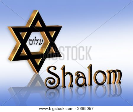 Hanukkah Shalom Jewish Background Blue