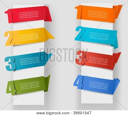 Abstract origami speech bubble with numbers  Vector