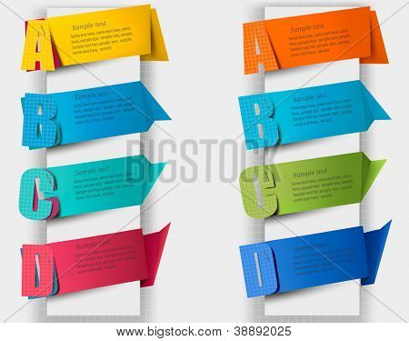 Abstract colorful origami speech bubble with letters.  Vector illustration