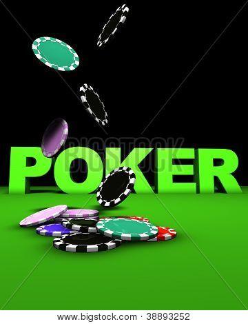 Poker Falling Chips
