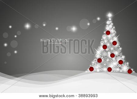 Fondo de Navidad con el árbol de Navidad, vector ilustración.