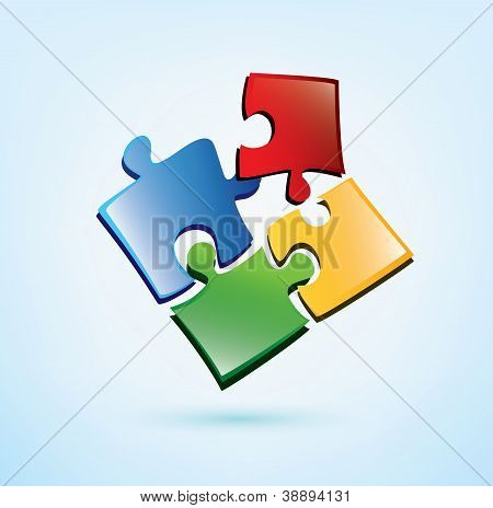 Puzzle Picies Vector Icon