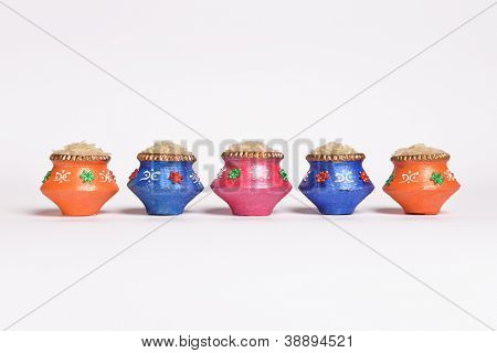 Miniature indian clay pots