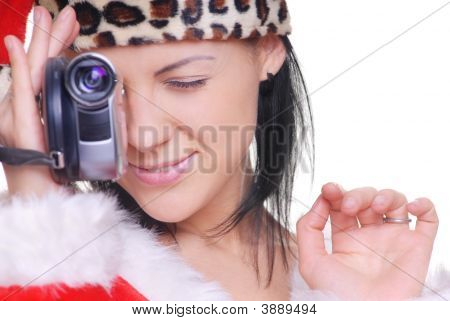 Santa With Camcorder