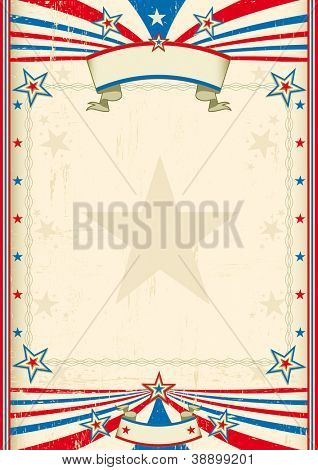 American cool frame. A tricolor background with a large frame for you