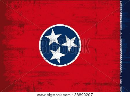 Grunge Flag of Tennesse. Tennessee flag with a texture
