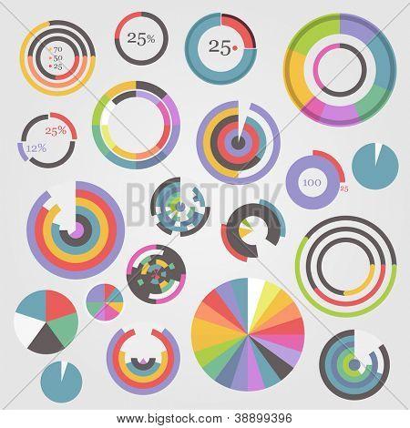 Colección de plantillas de gráfico de círculo
