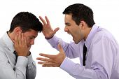 picture of humiliation  - Boss yelling at employee - JPG
