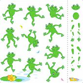 Frogs or toads cartoon characters