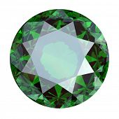 foto of peridot  - Round Gemstone isolated - JPG