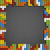 Abstract frame background of color blocks