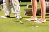 stock photo of miniature golf  - People - JPG
