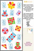 picture of fraction  - Educational math puzzle - JPG