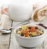 Bowl Of Muesli With Dried Fruits And Nuts