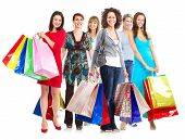 foto of boxing day  - Group of  woman with shopping bags - JPG