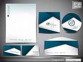 Professional corporate identity kit or business kit with wave pattern for your business includes CD
