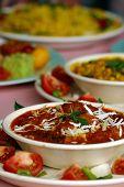 foto of indian food  - vegetarian balti restaurant - JPG