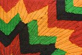 picture of rastaman  - Ornate fabric with versatile image as background - JPG