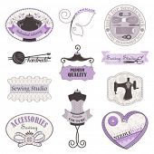 stock photo of sewing  - Vector collection of symbols - JPG