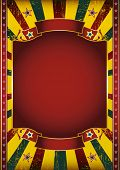 Nice poster. A colored poster with a large red frame for your message