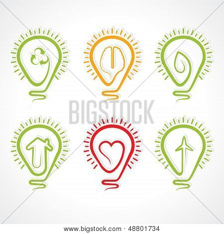 Bulb with different concept