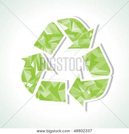Abstract triangle recycle icon
