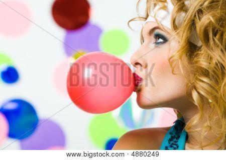 Blowing Bubble Gum