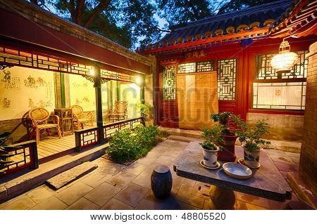 Courtyard in the old Hutongs