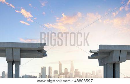 A gap in the bridge