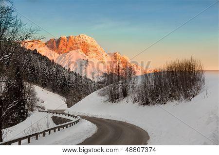 Sunrise In Germany Alps, Berchtesgaden, Bavaria, Germany