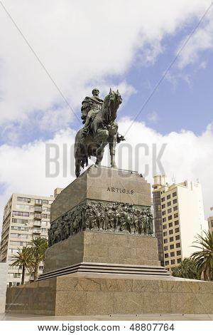 Equestrian Statue Of General Artigas In Montevideo, Uruguay