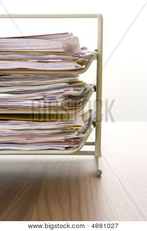 Paperwork In A Tray