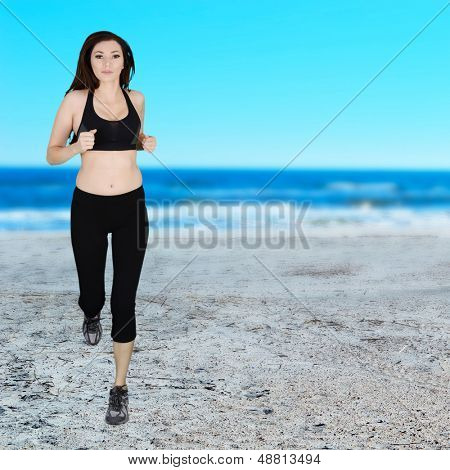 Woman running to get her daily exercise