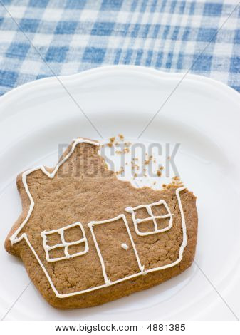 Close-up Of Gingerbread House