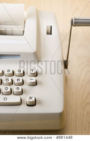 Detail Of Adding Machine