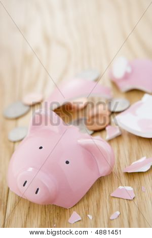 Smashed Piggy Bank