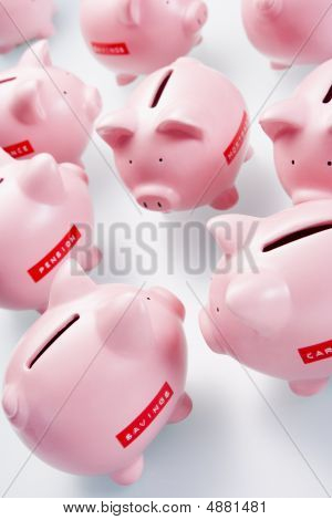 Accumulation Of Piggy Banks