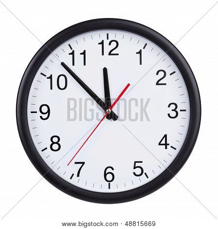 At Five To Twelve O'clock On The Dial Clock