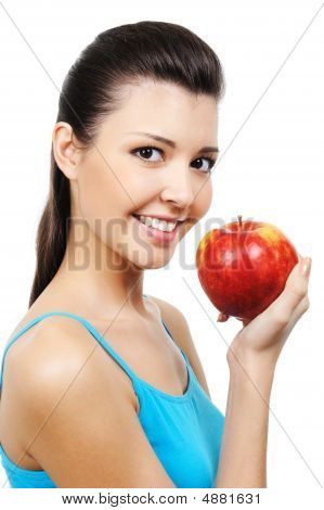 Female And Apple