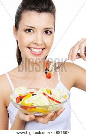 Cute Woman With Healty Food